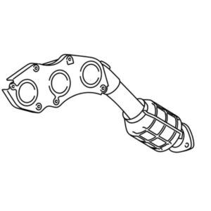 Lexus GS Phase 3 O/S Manifold and Catalytic Converter