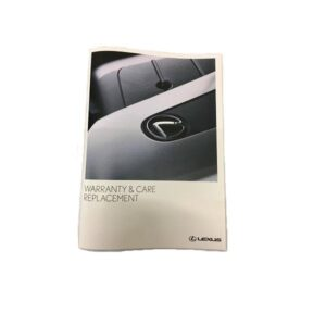 Lexus Replacement Warranty and Service Book